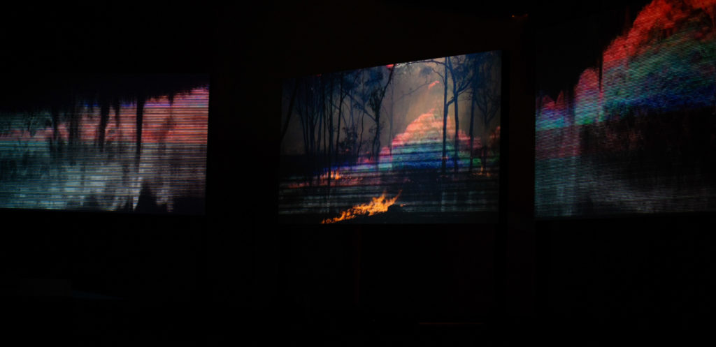 Jessie Boylan, Linda Demenet, Virginia Barratt, 6 screen video and surround sound installation, Bendigo Art Gallery, 2018