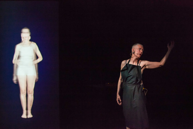 Virginia Barratt (performer) with Linda Dement and Jessie Boylan, RUPTURE, Esme Timbery CPL, UNSW, Sydney, 2019, 2019 © cynthia sciberras