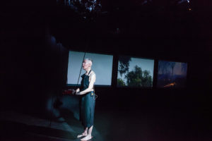 Virginia Barratt (performer) with Linda Dement and Jessie Boylan, RUPTURE, Esme Timbery CPL, UNSW, Sydney, 2019, 2019 © cynthia sciberras