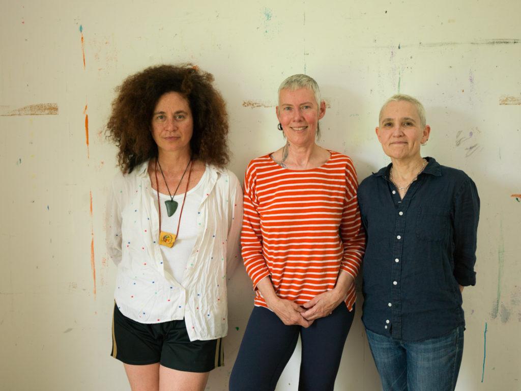 Bundanon residency 2020. L-R: Victoria Hunt, Virginia Barratt, Linda Dement