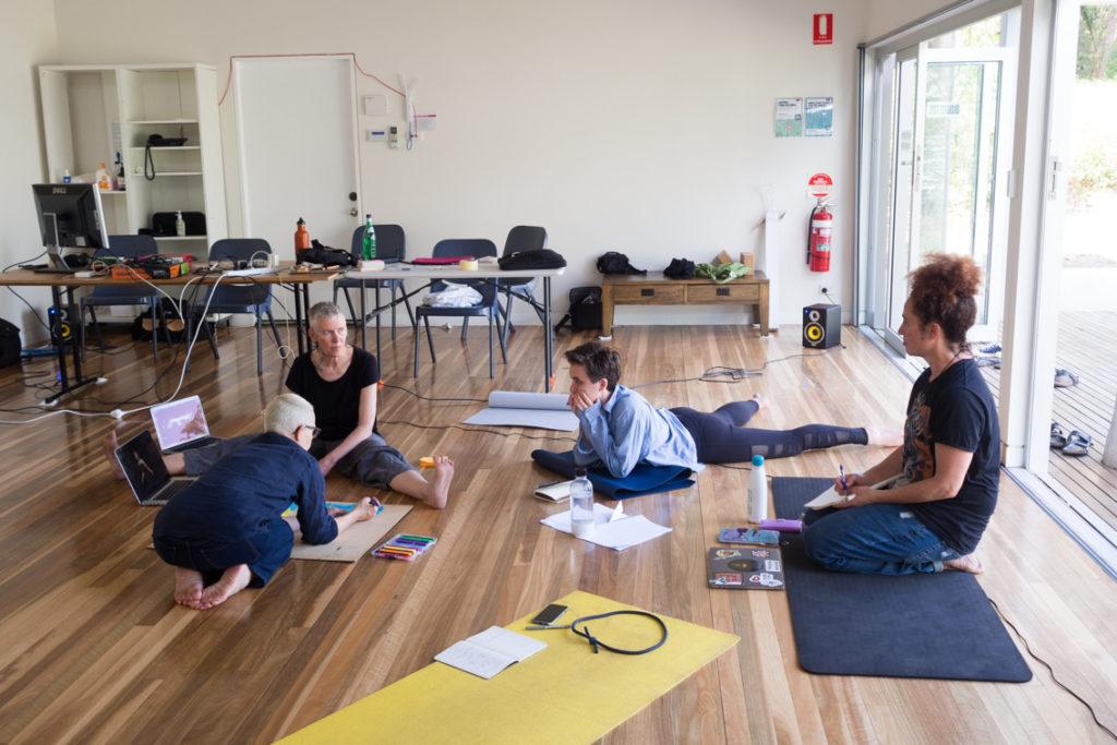 Creative Development, Bundanon. L-R: Linda Dement, Virginia Barratt, Frances Barrett, Victoria Hunt
