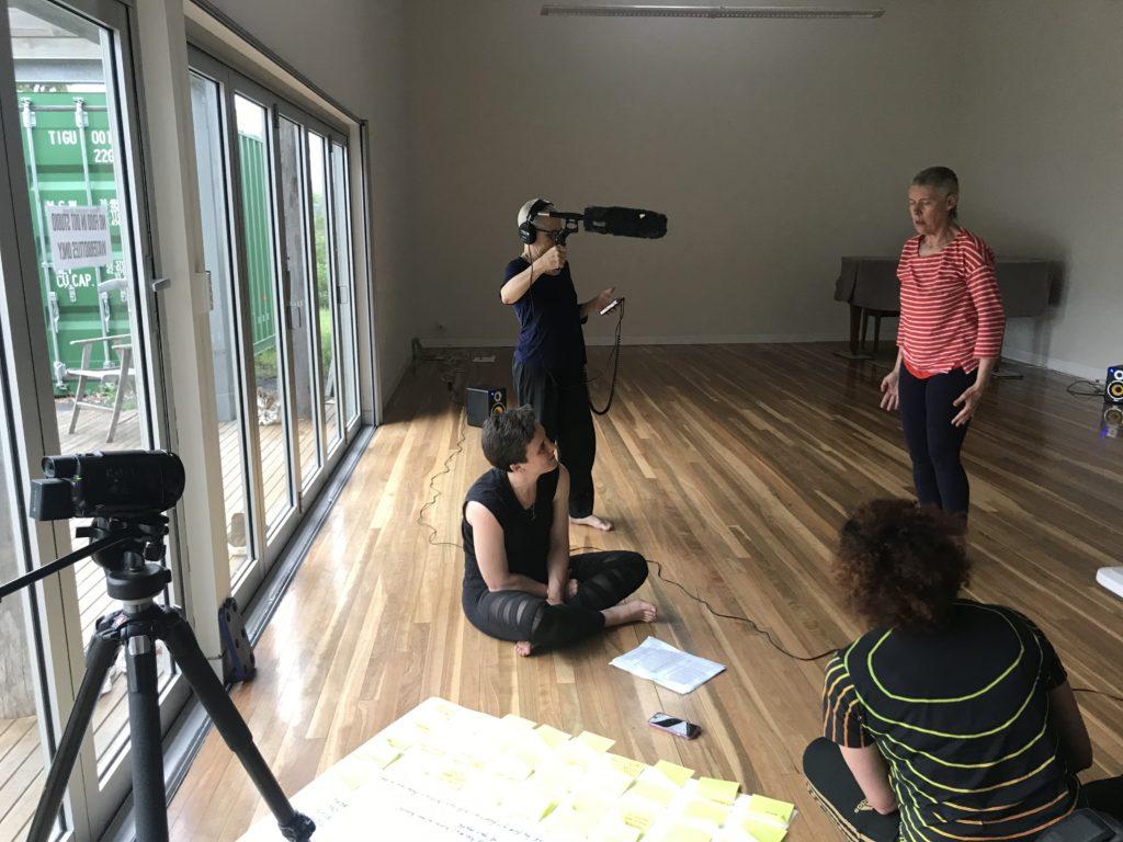 Creative Development, Bundanon. L-R: Frances Barrett, LInda Dement, Victoria Hunt, Virginia Barratt